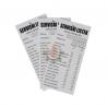 Servisni listek - kartonček