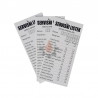 Servisni listek - kartonček 50kos