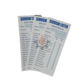 Servisni listek - nalepka 50kos